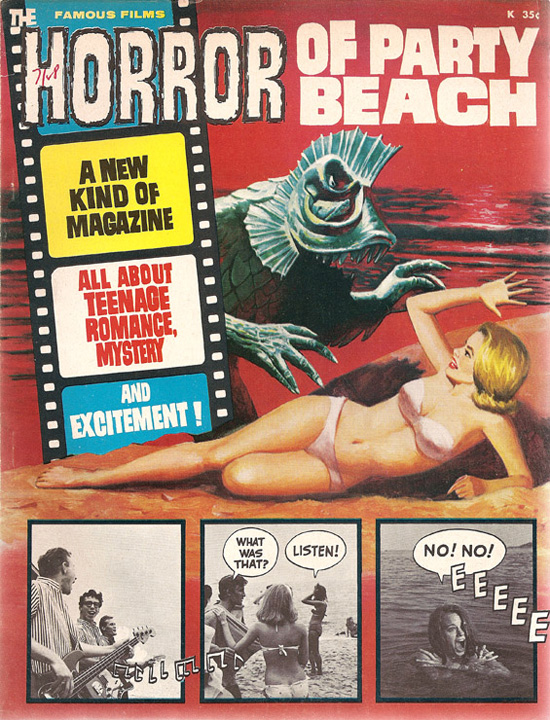 1964 Horror of Party Beach Comic cover