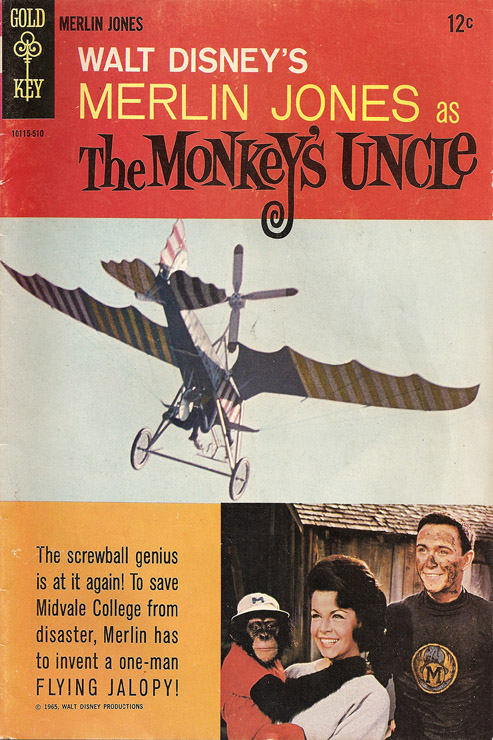 1965 Monkey's Uncle Comic cover